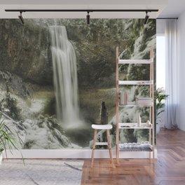 Salt Creek Falls on a Winter's Day Wall Mural