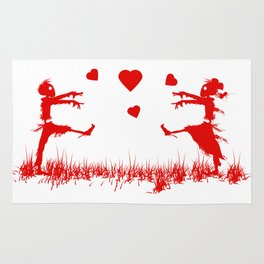Zombies in Love Red Rug