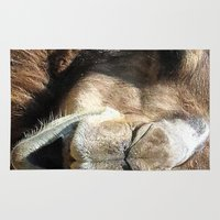 camel Area & Throw Rugs featuring camel by Laura Grove