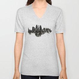 Cincinnati Skyline Black and White Unisex V-Neck
