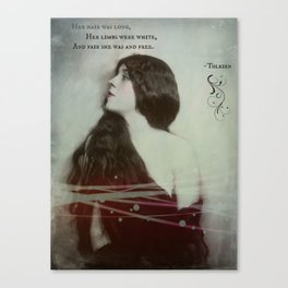 Her Hair Was Long Canvas Print