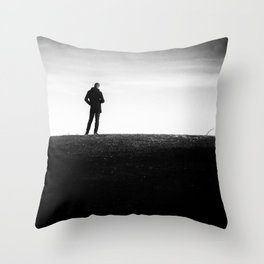 The longing | Posing on the hill Throw Pillow