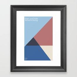klaps und tickle Framed Art Print