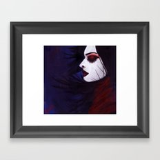 Sunk deep in the night... Framed Art Print