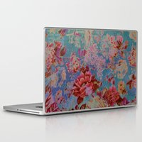 vintage floral Laptop & iPad Skins featuring vintage floral by clemm