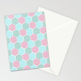 Abstract pattern in rgb style Stationery Cards