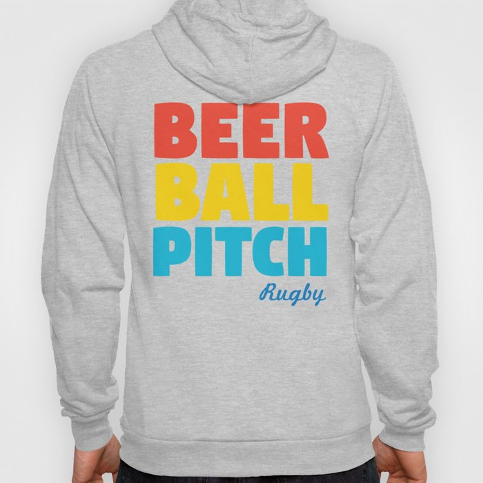 Beer Ball Pitch Rugby Hoody