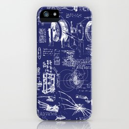 Da Vinci's Sketchbook // Dark Blue iPhone Case
