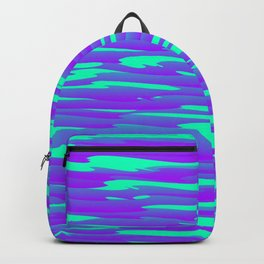 Running luxury violet scribble of art waves and light blue highlights. Backpack