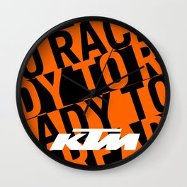 KTM Orange Wall Clock