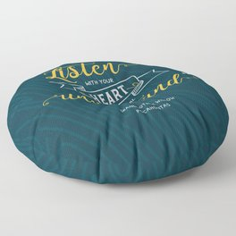 """""""Listen with your heart, you will understand."""" - Grandmother Willow Floor Pillow"""