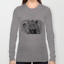 Snarling leopard  Long Sleeve T-shirt