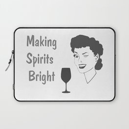 Making Spirits Bright Holiday Laptop Sleeve