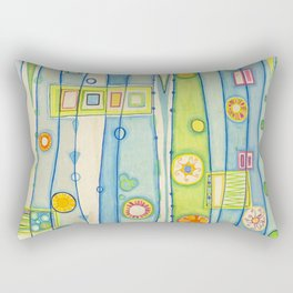 Rojo-Azul Rectangular Pillow