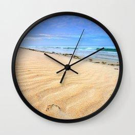 """""""Levante sea"""" Tarifa beach at sunrise Wall Clock"""