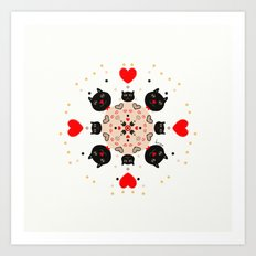 Cat Mandala 1 Art Print
