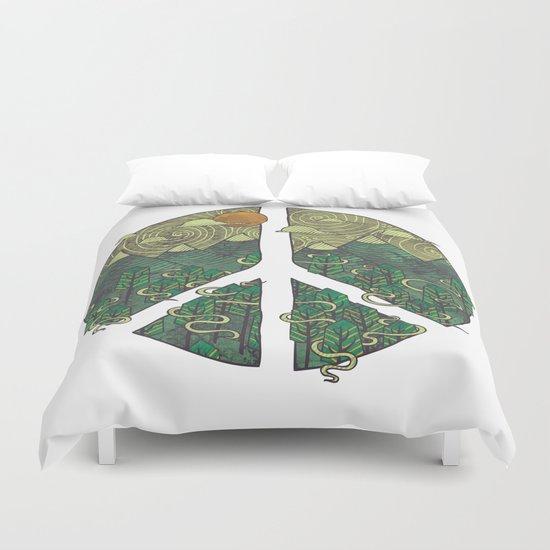 Peaceful Landscape Duvet Cover
