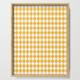 Butter Yellow Modern Diamond Pattern Serving Tray