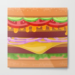 Gigantic Burger Metal Print