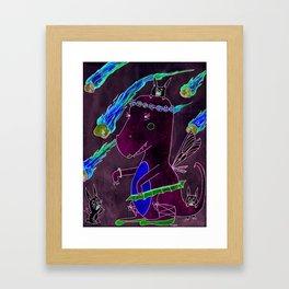 T-rex fairy princess and danger bunnies Framed Art Print