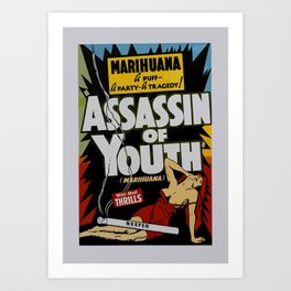 Anti-hemp old poster Art Print