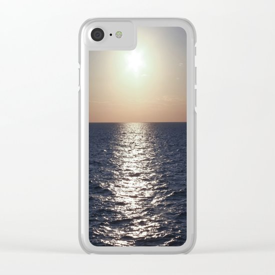 Sunset, Santorini Clear iPhone Case