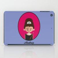 hepburn iPad Cases featuring Audrey Hepburn by Juliana Motzko