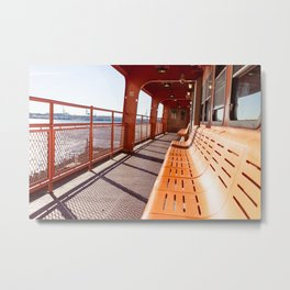 Morning Ferry Metal Print