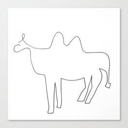 Line Camel Canvas Print