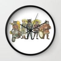 steampunk Wall Clocks featuring Steampunk  by Felis Simha