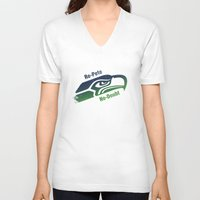 seahawks V-neck T-shirts featuring Re-Pete Seahawks! by CSL2