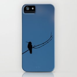 Hummingbird Silhouette iPhone Case