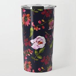 School Dayz Vintage Floral Watercolor Travel Mug