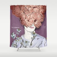 soul Shower Curtains featuring soul by mustafasoydan