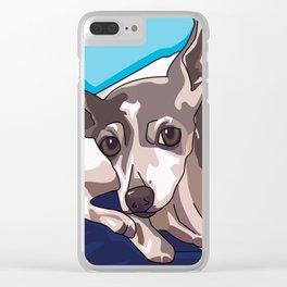 Jasmine Dog Clear iPhone Case