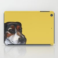 jack russell iPad Cases featuring Milo the Jack Russell Terrier by Pawblo Picasso