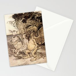 """The Mock Turtle's Story"" by Arthur Rackham Stationery Cards"