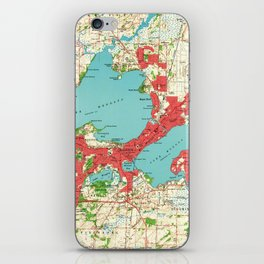 Vintage Map of Madison Wisconsin (1959) iPhone Skin