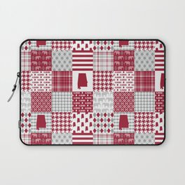 Alabama bama crimson tide cheater quilt state college university pattern footabll Laptop Sleeve