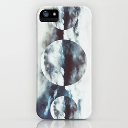 white and blue iPhone Case