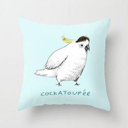 Cockatoupée Throw Pillow