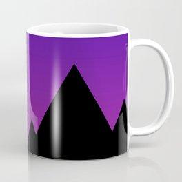 Mountains at Sunset (Blue & Magenta) Coffee Mug