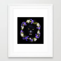 givenchy Framed Art Prints featuring GIVENCHY Panther by V.F.Store