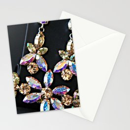 Diamond Flowers Stationery Cards