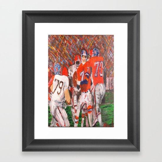 Duke Framed Art Print