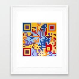 Number Three Multicolour Series  Framed Art Print