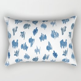 Brushstrokes of blue paint Rectangular Pillow