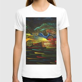 1927 Voiturette Grand Prix of  Italian Tripolitania landscape painting T-shirt
