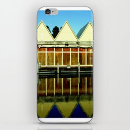 Reflections of an old boat Building! iPhone Skin