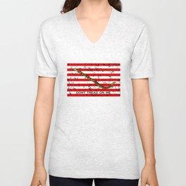 Navy Jack Flag - Dont Tread On Me Unisex V-Neck